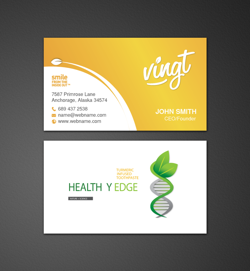 Modern, Professional, Health And Wellness Business Card Design for a ...