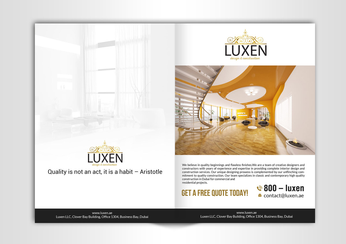 Elegant Playful Construction Flyer Design For A Company By Creative Bugs Design 12407648