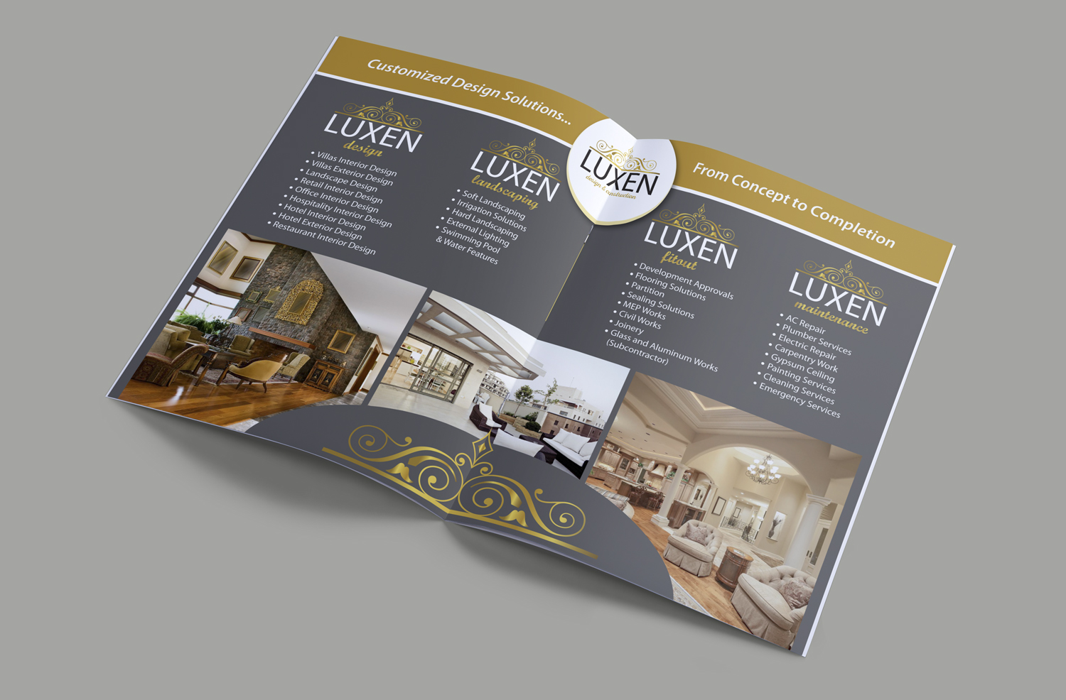 Elegant Playful Construction Flyer Design For A Company By