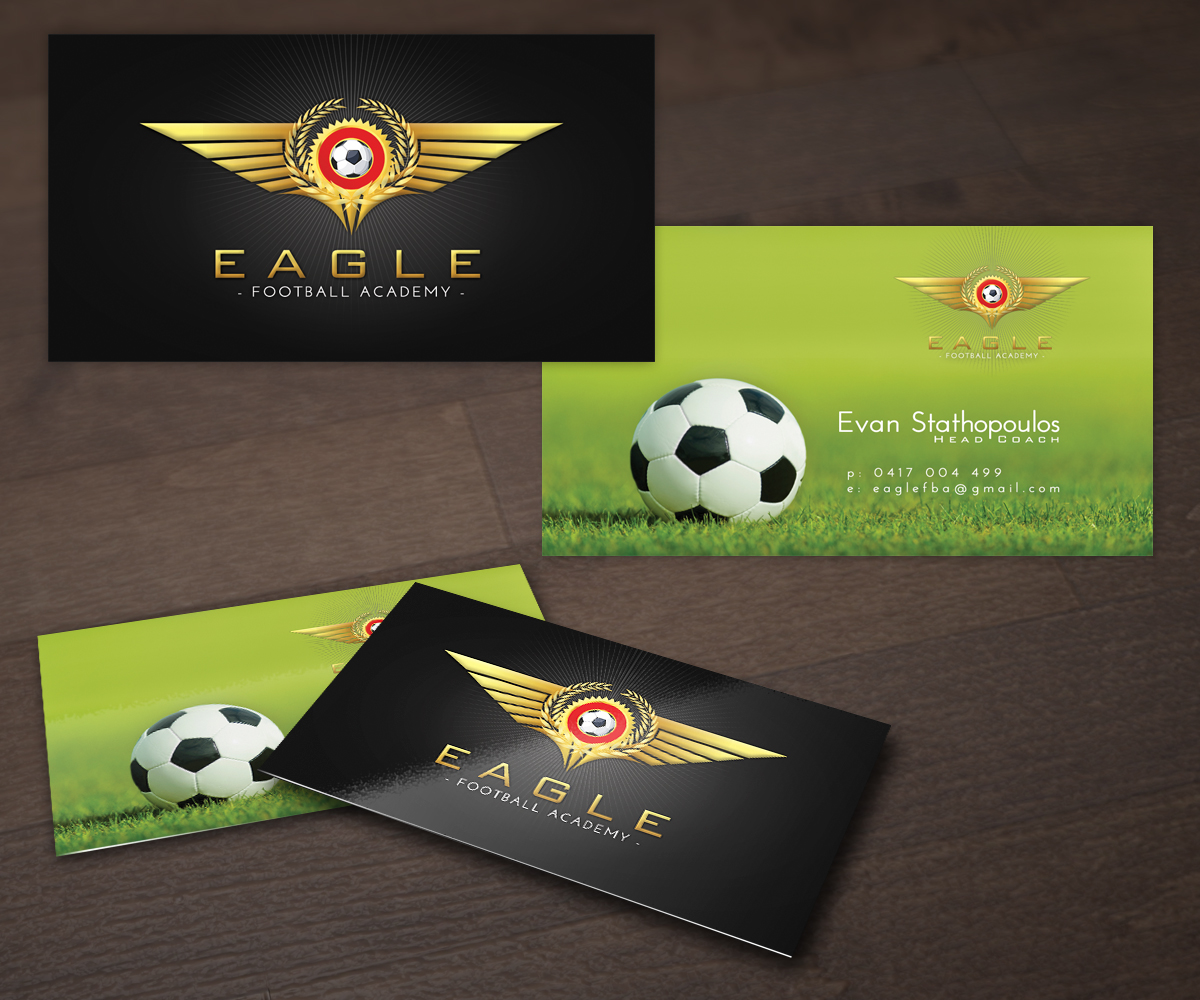 Professional masculine business card design for eagle football business card design by futuredesigne for this project design 2408069 colourmoves