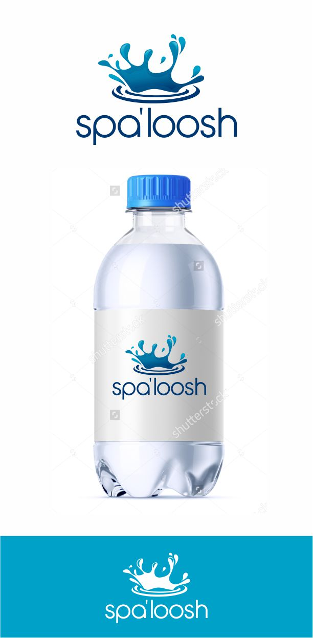 playful personable water company logo design for spa loosh by