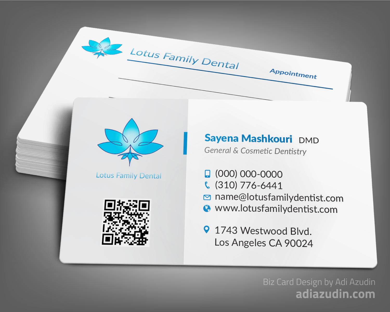 Design De Carte Visite Par Adiazudin Pour Lotus Family Dental