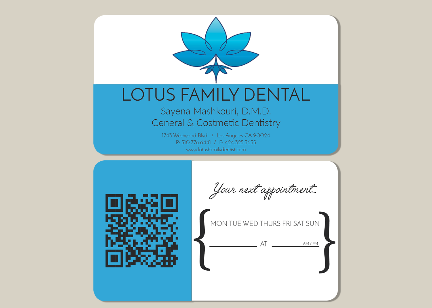 Design De Carte Visite Par Paracosmic Designs Pour Lotus Family Dental