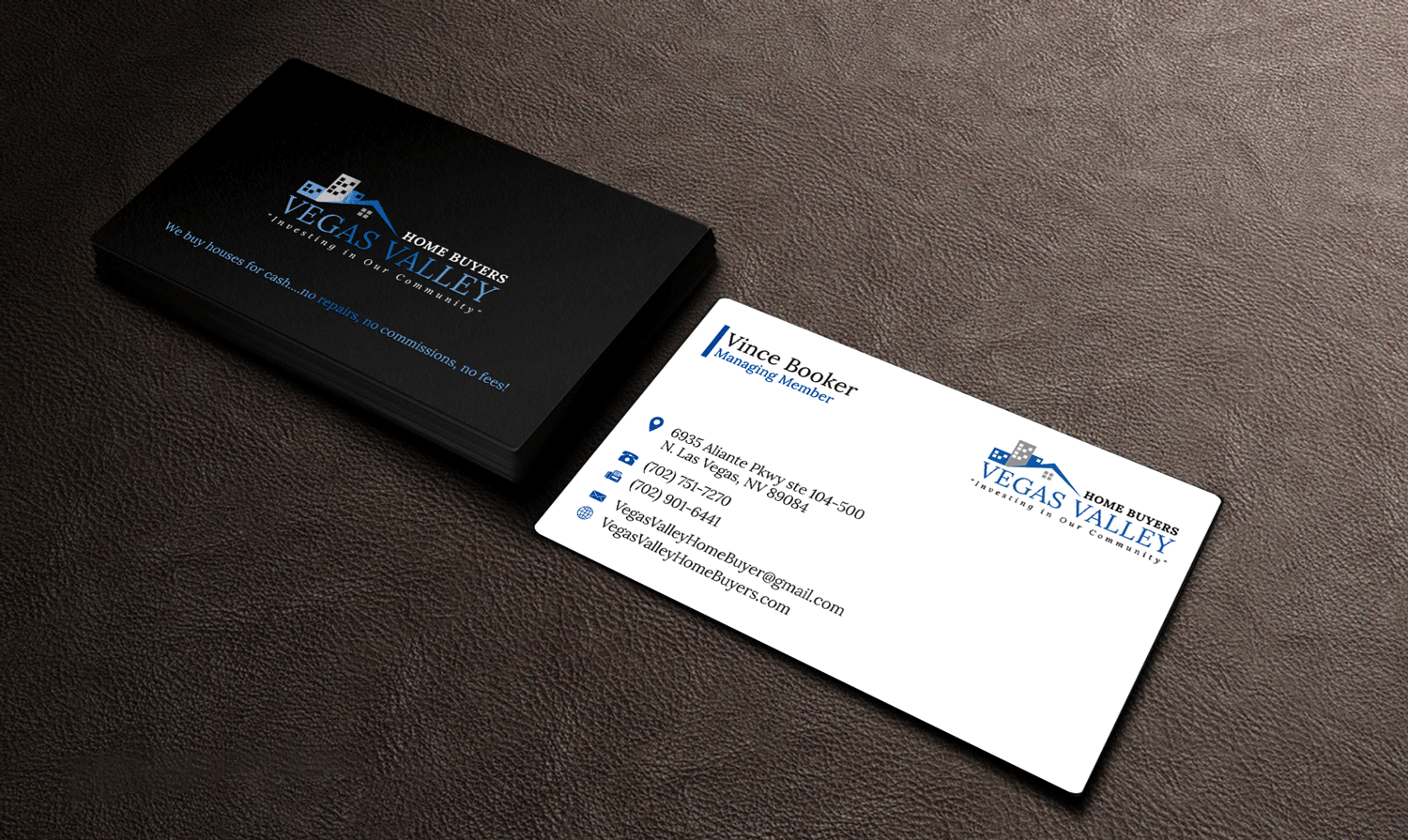 Modern professional real estate business card design for vegas business card design by riz for this project design 12421691 buy a reheart Image collections