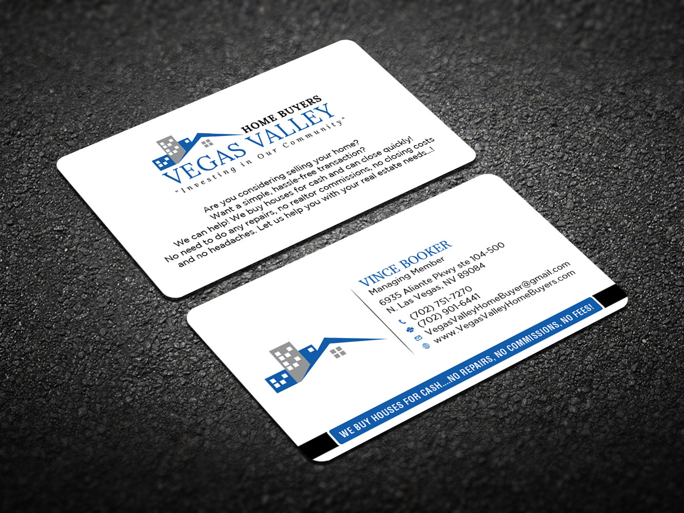 Modern professional real estate business card design for vegas business card design by design xeneration for this project design 12439974 buy a reheart Image collections