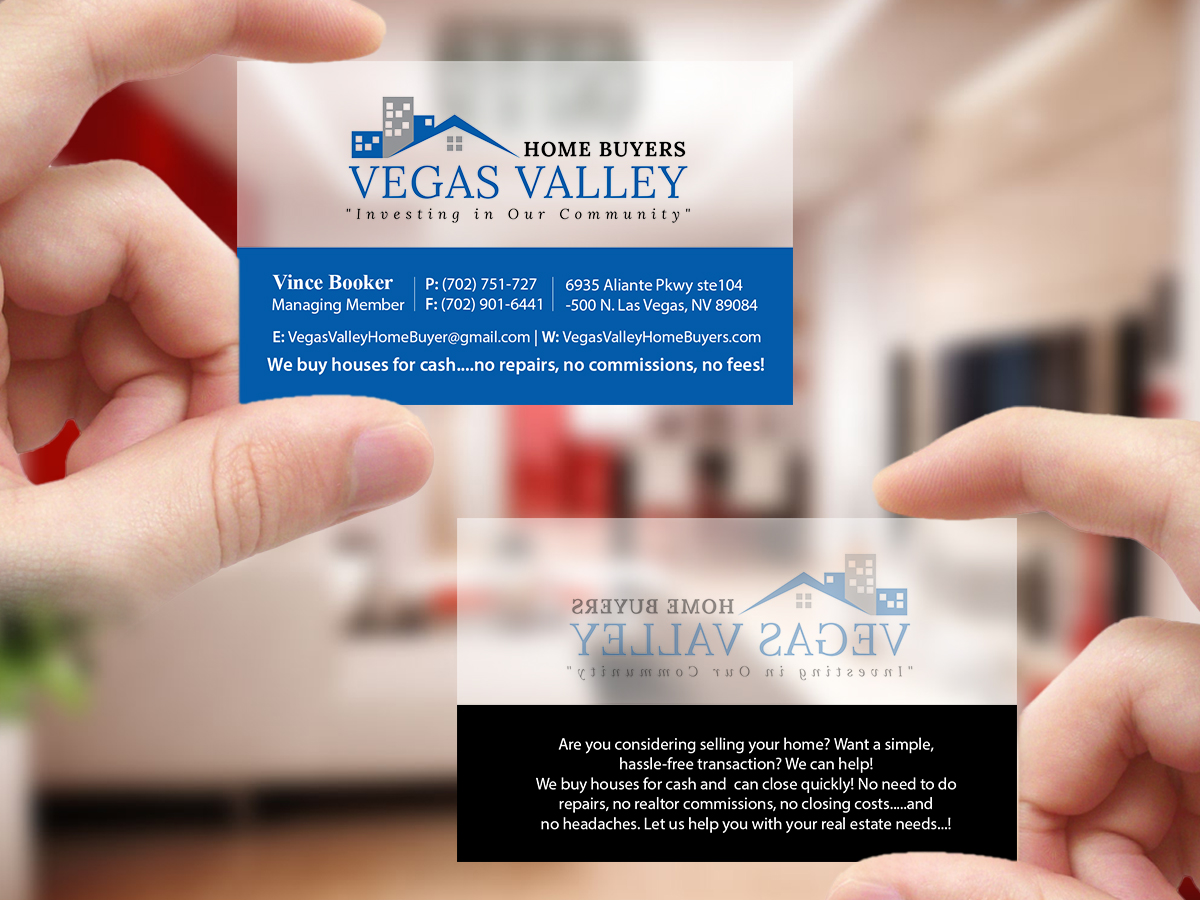 Modern professional real estate business card design for vegas business card design by creations box 2015 for this project design 12425303 buy a reheart Image collections