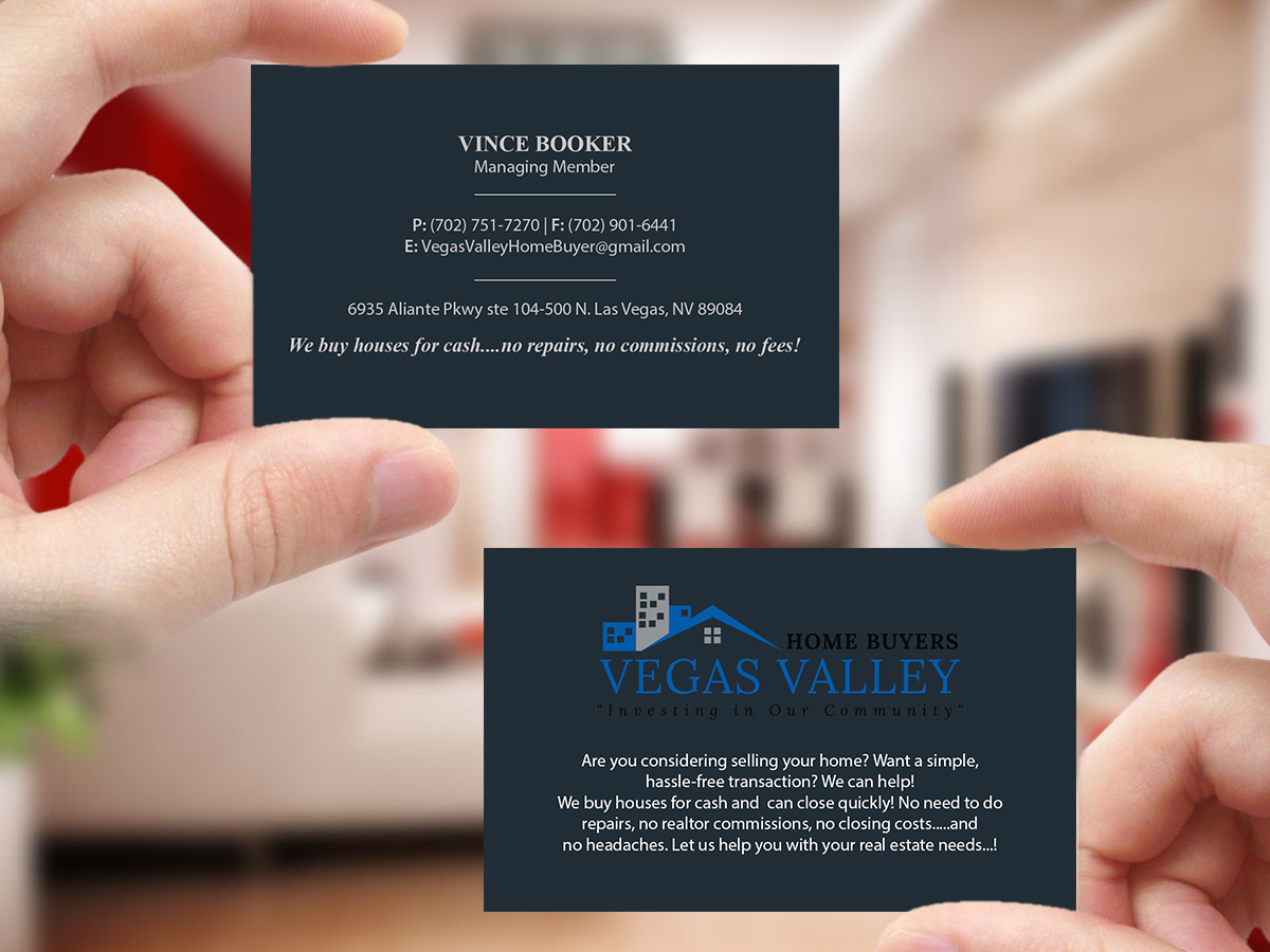 Modern professional real estate business card design for vegas business card design by creations box 2015 for this project design 12425306 buy a reheart Image collections