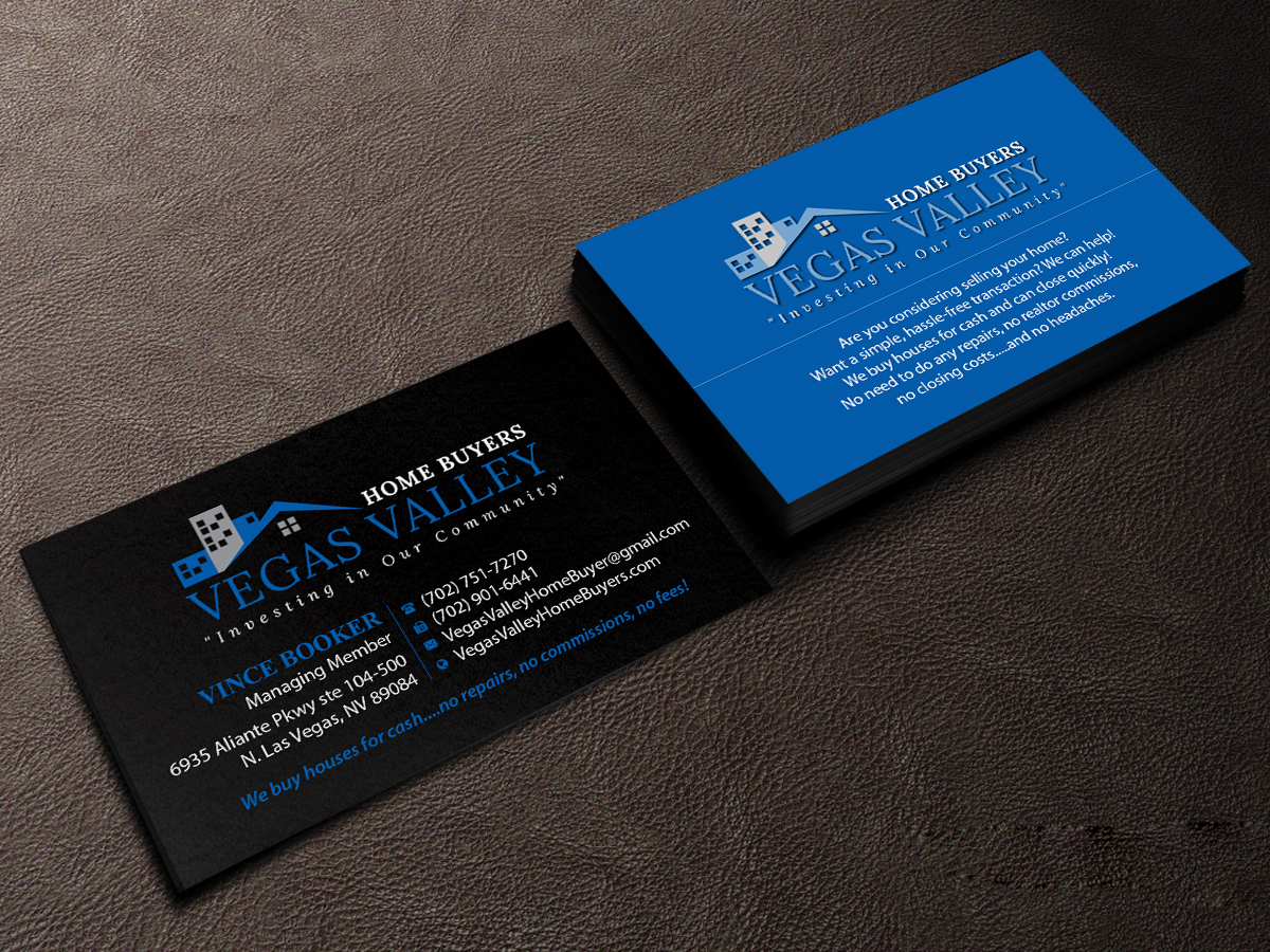 Modern professional real estate business card design for vegas business card design by creations box 2015 for this project design 12425325 buy a reheart Image collections