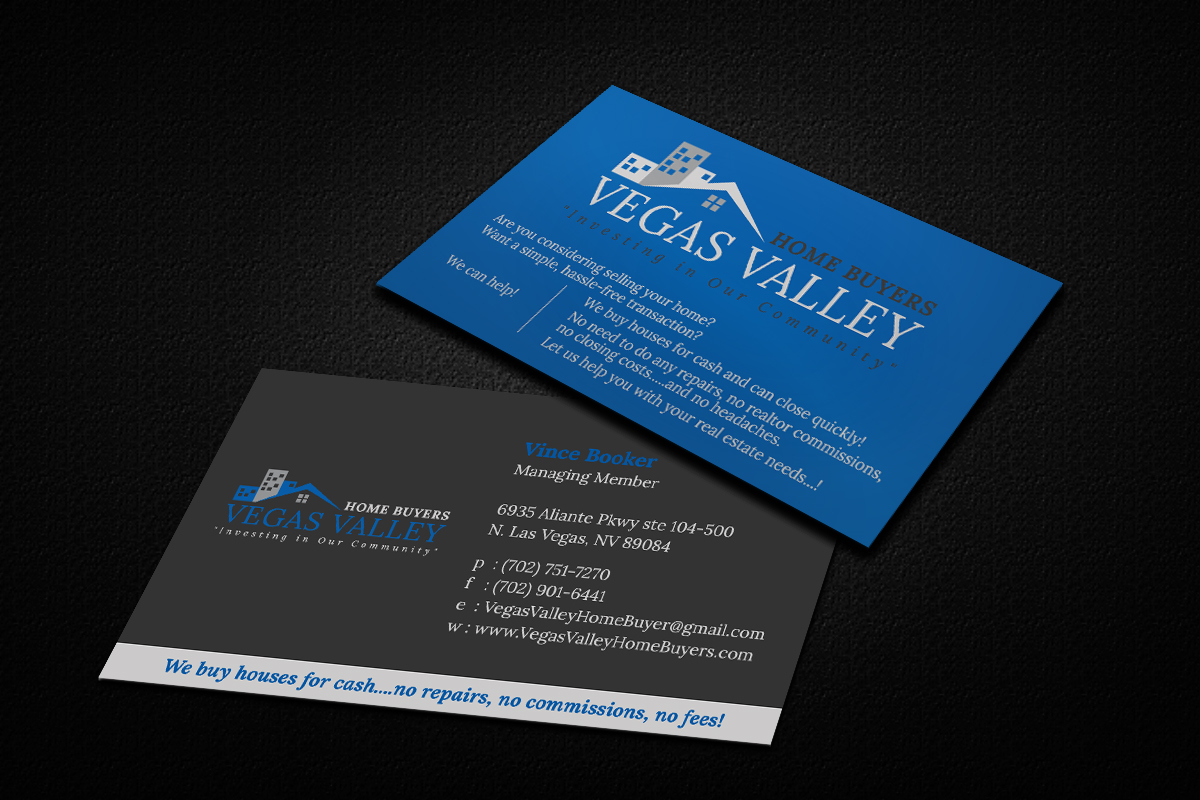 Modern professional real estate business card design for vegas business card design by md anwarul haque for this project design 12422943 buy a reheart Image collections