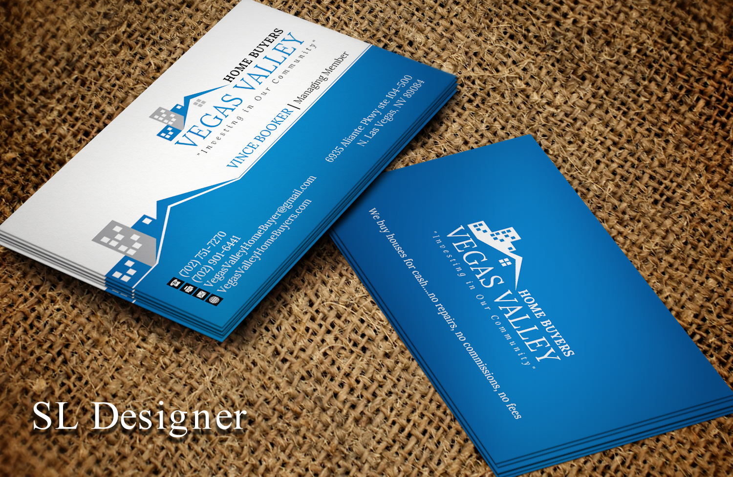 Modern professional real estate business card design for vegas business card design by sl designer for this project design 12419656 buy a reheart Image collections