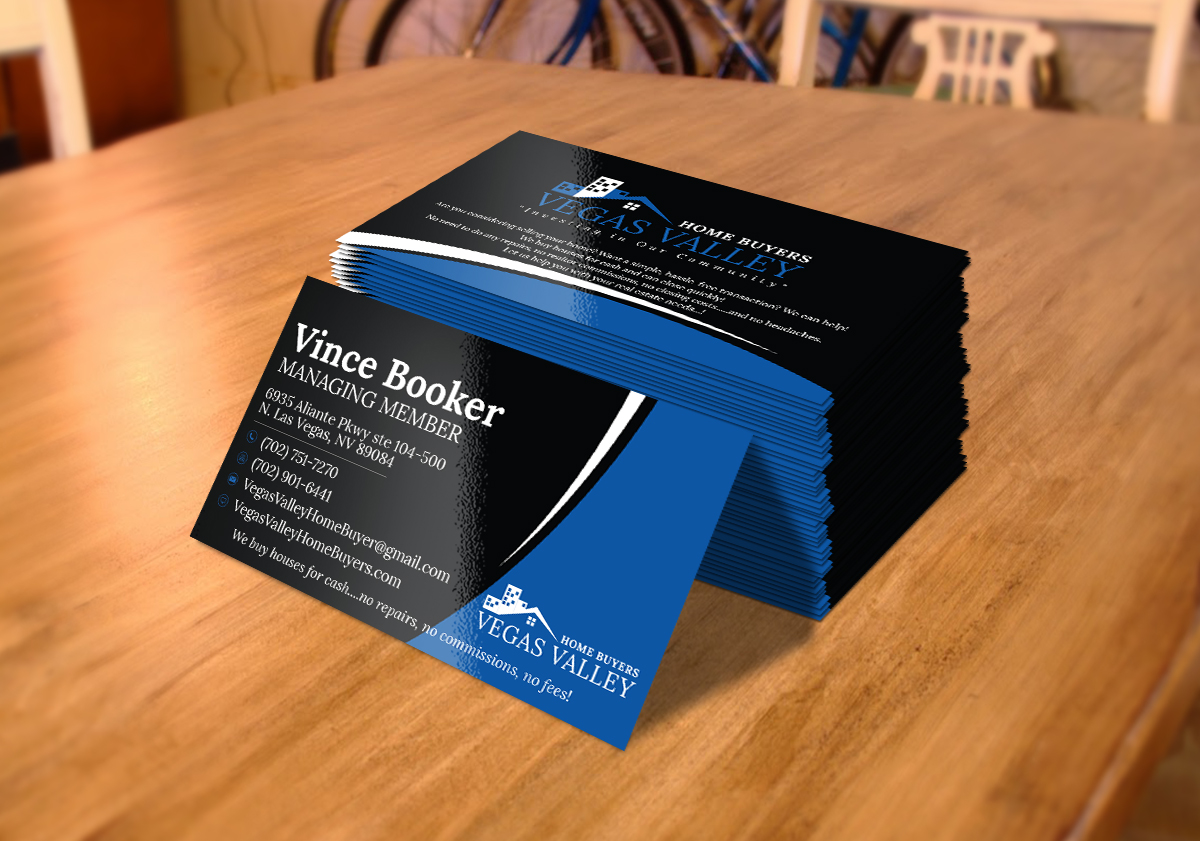 Modern professional real estate business card design for vegas business card design by idezine7 for this project design 12426833 buy a reheart Image collections