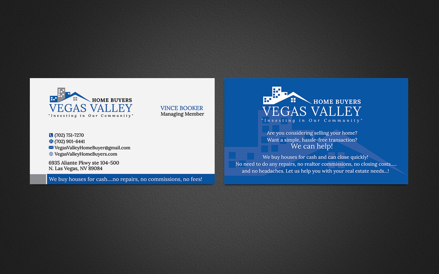 Modern, Professional Business Card Design for Vince Booker by ...