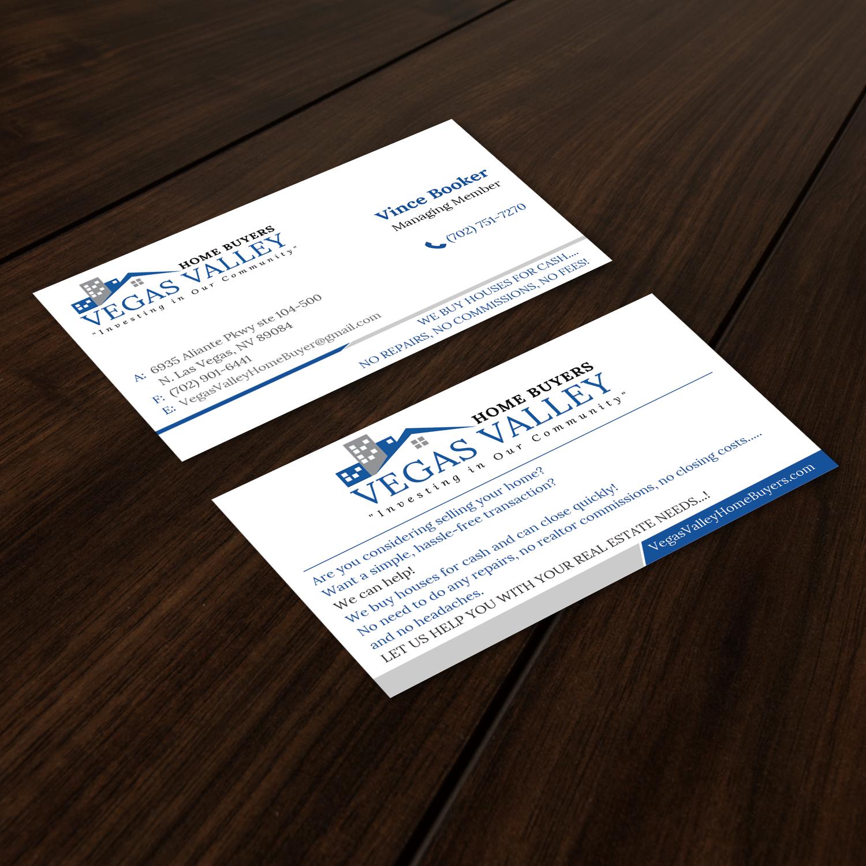 Modern, Professional, Real Estate Business Card Design for VEGAS ...