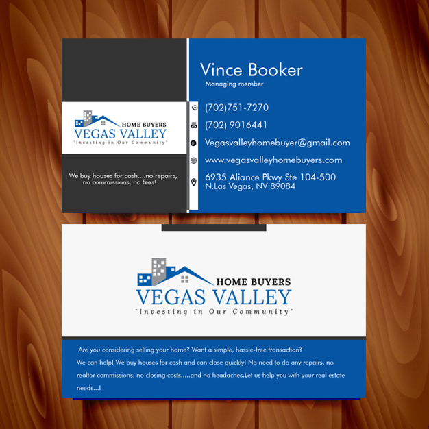 Modern professional real estate business card design for vegas business card design by kwesi de designer for this project design 12438345 buy a reheart Image collections