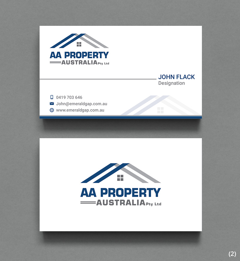 Modern, Colorful Business Card Design for AA Property Australia ...