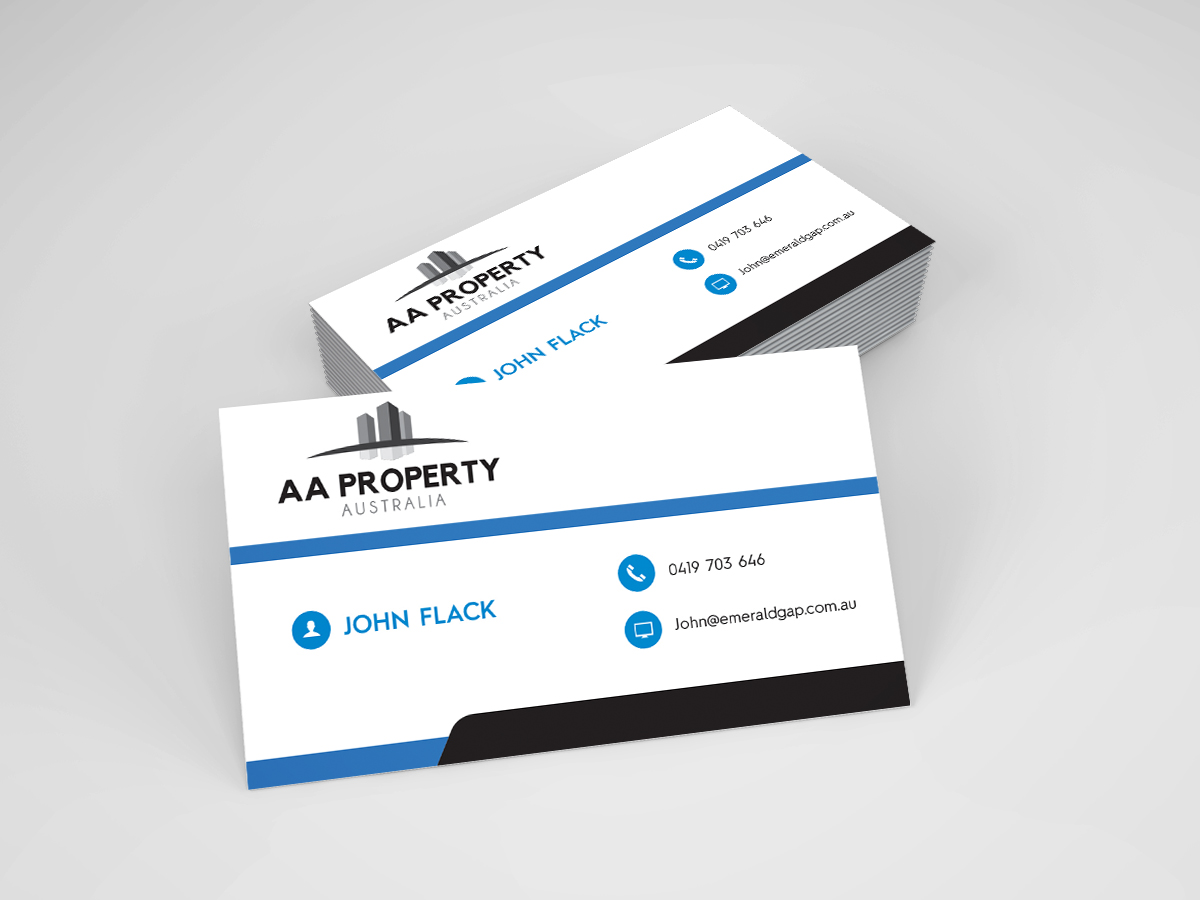 Modern, Colorful, Business Business Card Design for AA Property ...