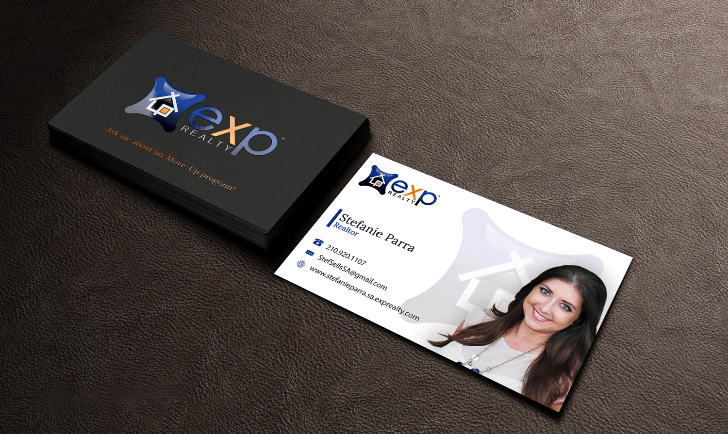 Modern, Professional, Real Estate Agent Business Card Design