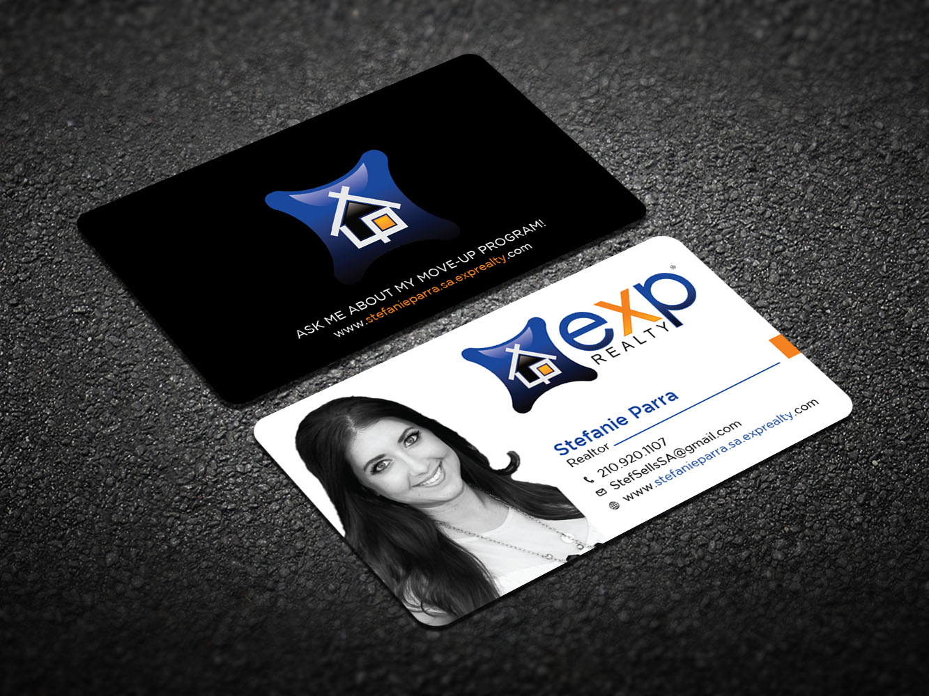Modern professional real estate agent business card design for a business card design by design xeneration for this project design 12455996 reheart Choice Image