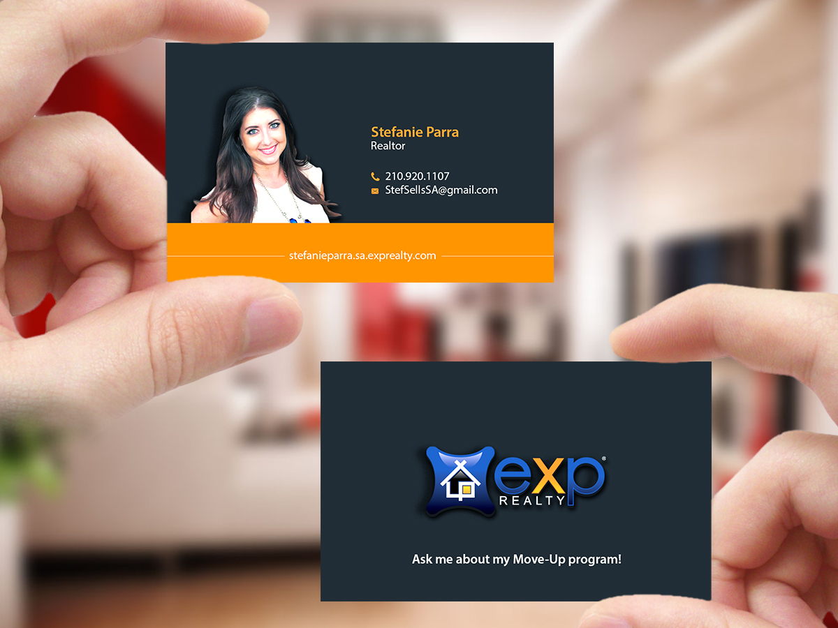 Modern professional business card design for zach parra by business card design by creations box 2015 for clean professional business cards for successful realtor reheart Choice Image
