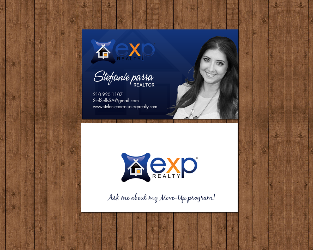 Modern professional real estate agent business card design for a business card design by chandrayaaneative for this project design 12480567 colourmoves