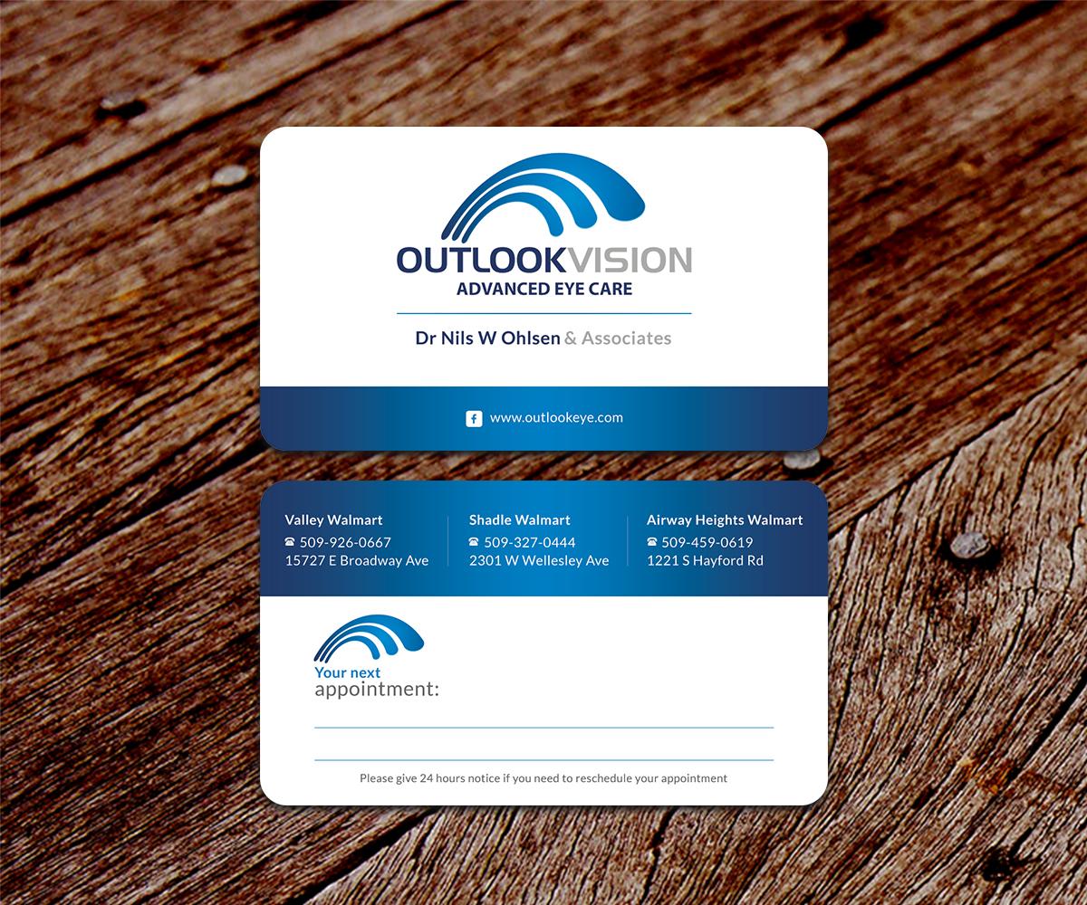 Modern bold healthcare business card design for outlook vision by business card design by ssdesigns for outlook vision design 12524215 colourmoves