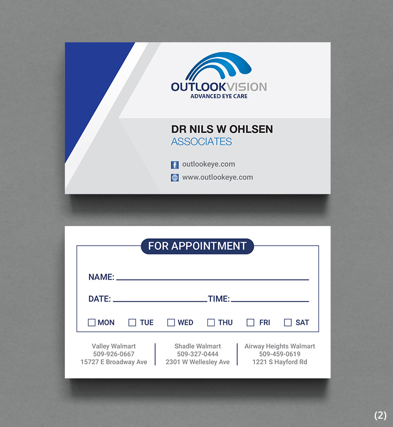 Modern, Bold Business Card Design for Outlook Vision by ...