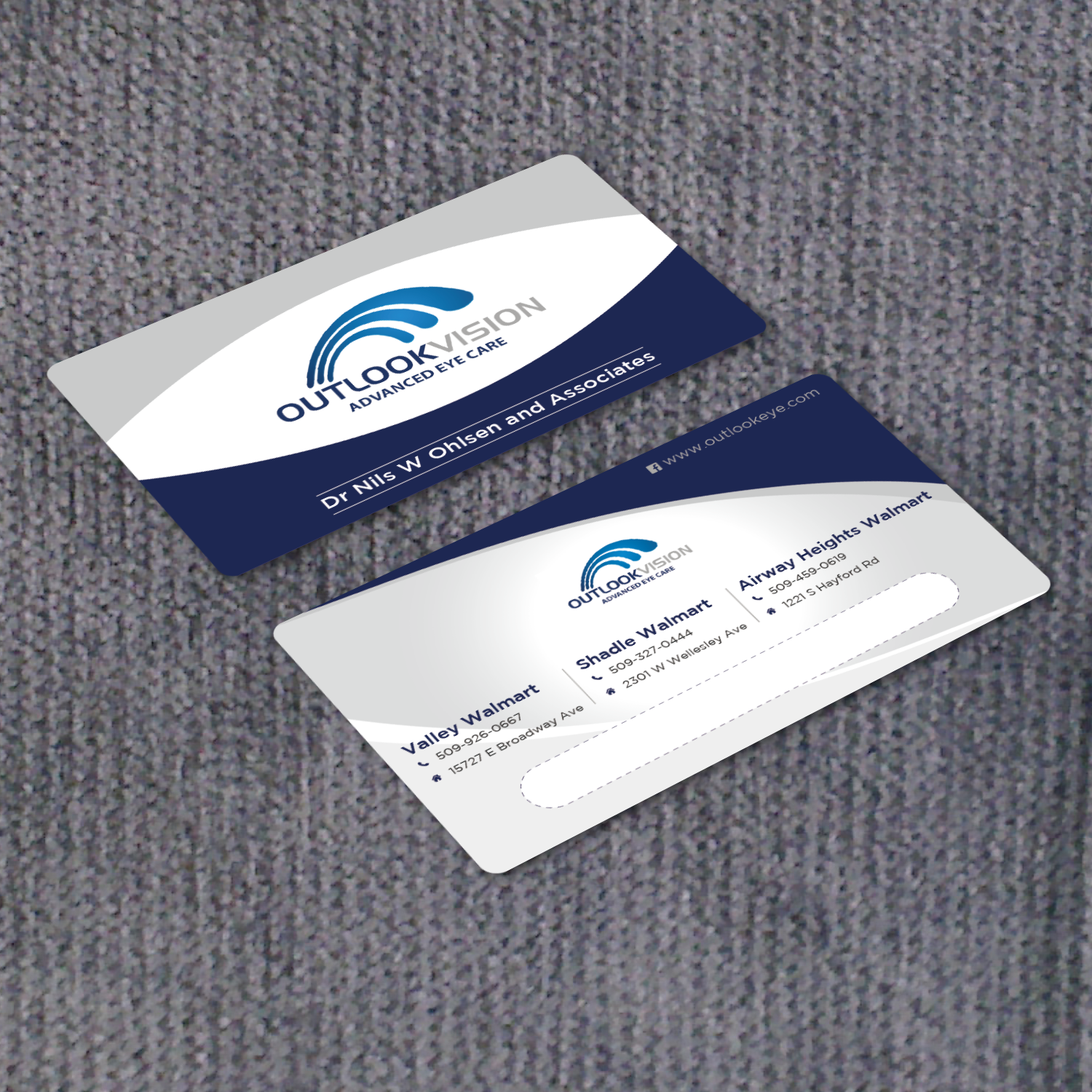 Modern, Bold, Healthcare Business Card Design for Outlook Vision by ...