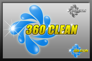 Logo Design by Ambrech - 360 CLEAN (Commercil & Residential Cleaning Ser...