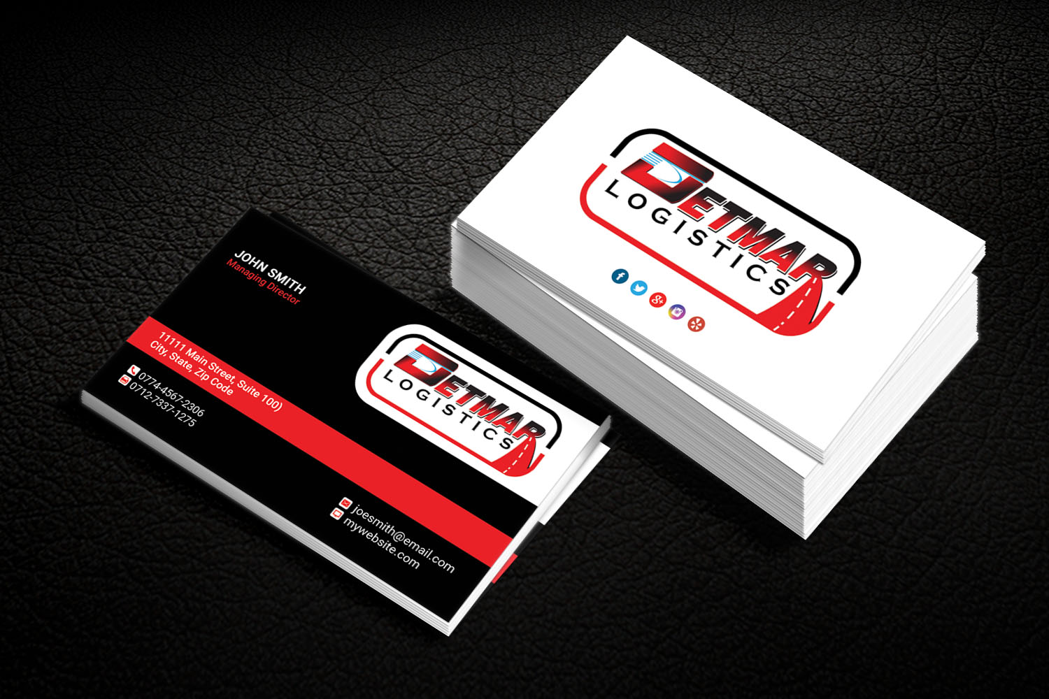 Masculine, Upmarket, Trucking Company Business Card Design for a ...