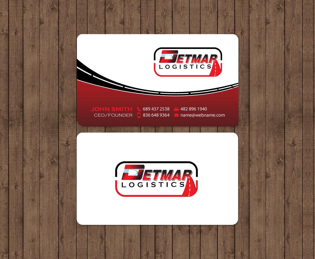 Masculine, Upmarket, Trucking Company Business Card Design