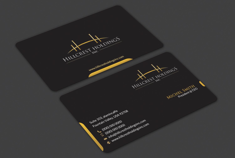 Upmarket, Elegant Business Card Design for Hillcrest Holdings by ...