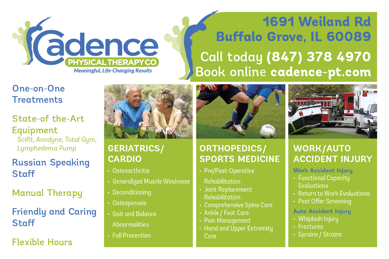 serious  modern  physical therapy brochure design for cadence physical therapy co by noworries