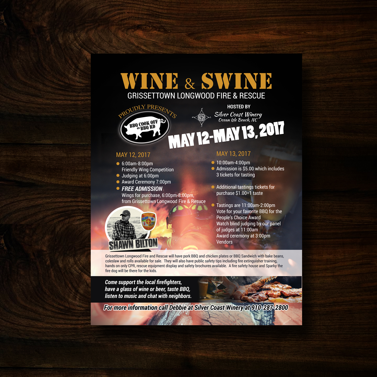 elegant playful event flyer design for silver coast winery by uk