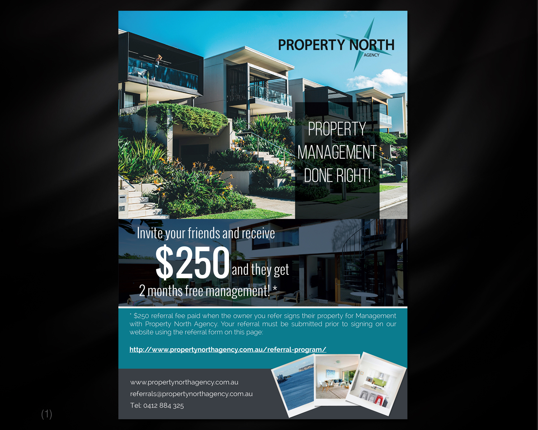 modern professional real estate flyer design for property north