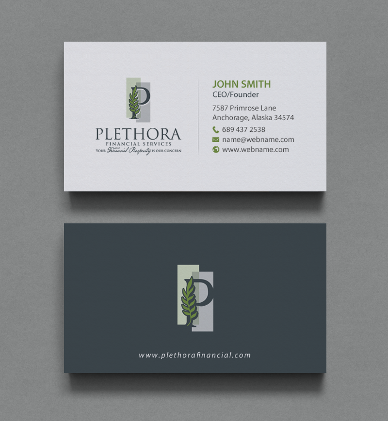 Elegant serious financial service business card design for a business card design by chandrayaaneative for this project design 12504218 reheart Choice Image