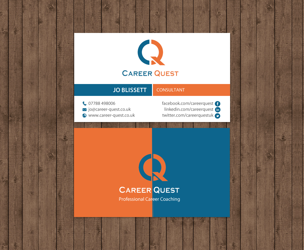 Modern, Professional, Consulting Business Card Design for Career ...
