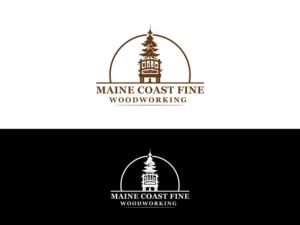 fine woodworking logo. logo design (design #12519196) submitted to maine coast fine woodworking logo (closed