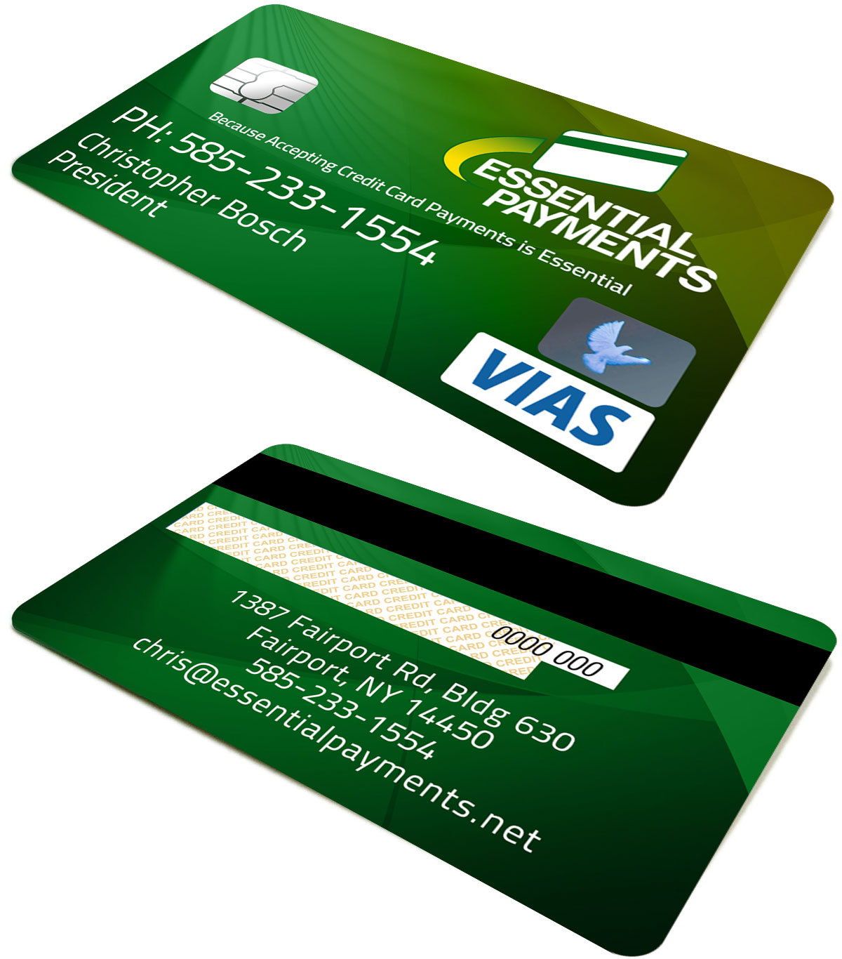 Professional masculine credit card business card design for Corporate business credit cards