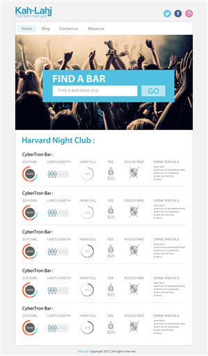 Web Design by Creative James - College Social website needs a SIMPLE chart design