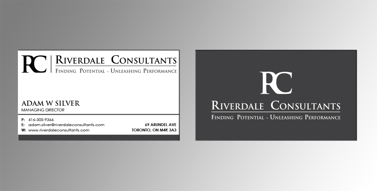 60 professional upmarket business card designs for a for Business design consultant