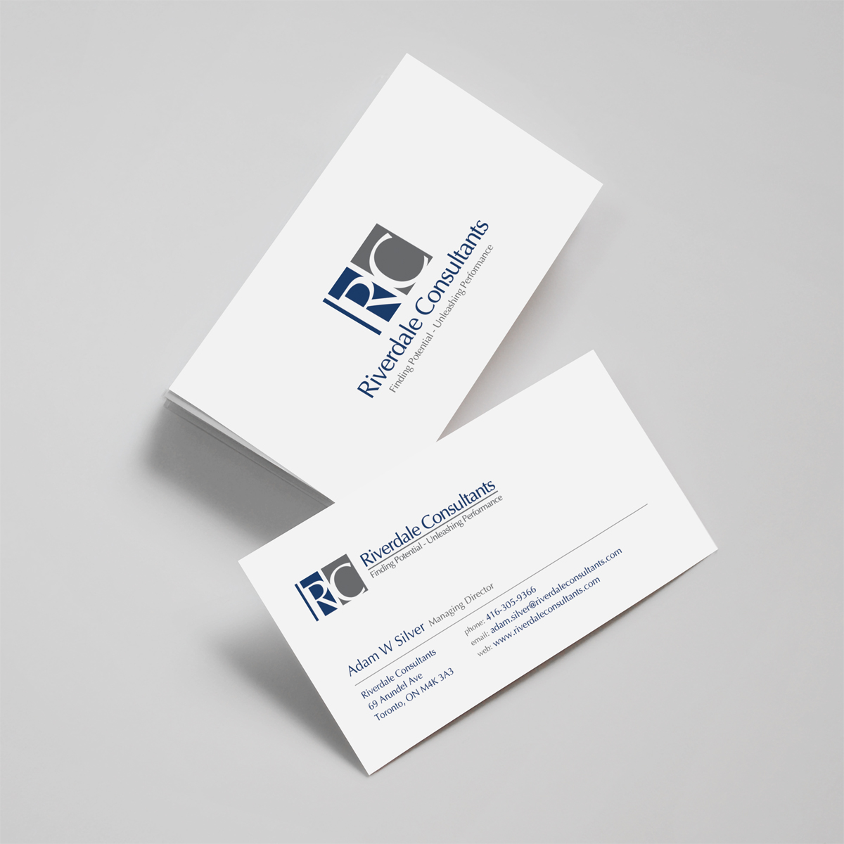 Professional, Upmarket Business Card Design for Adam Silver by ...