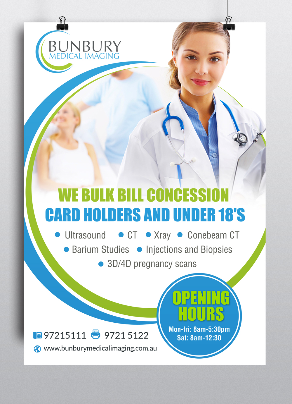 Poster design medical - Poster Design By Hih7 For Bunbury Medical Imaging Marketing Poster Design 12519155