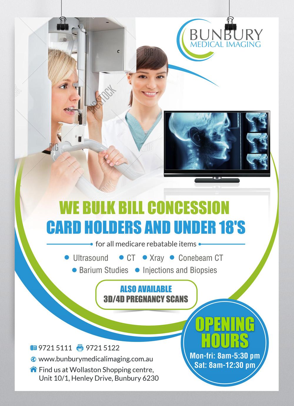 Poster design medical - Poster Design By Hih7 For Bunbury Medical Imaging Marketing Poster Design 12770820