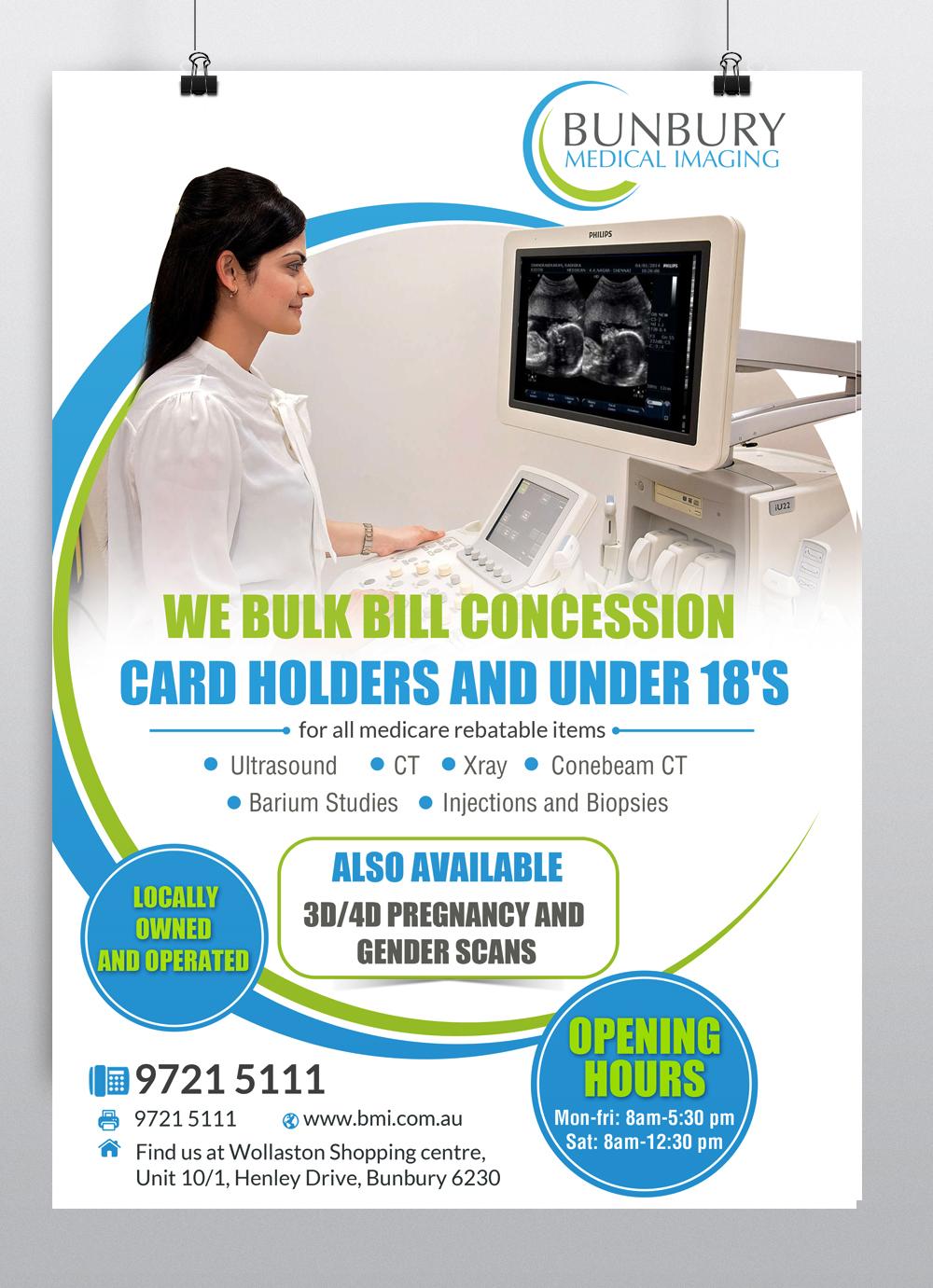 Poster design medical - Poster Design By Hih7 For Bunbury Medical Imaging Marketing Poster Design 12835254