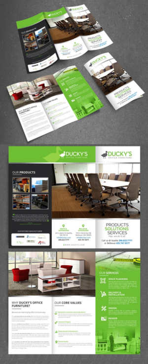 58 modern playful office furniture flyer designs for a office