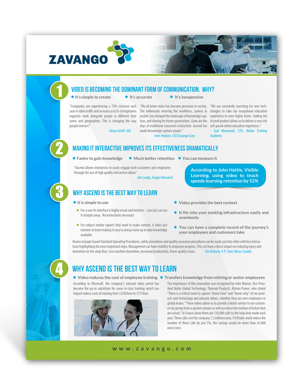 Bold serious brochure design for zavango corporation by for Interactive brochure design