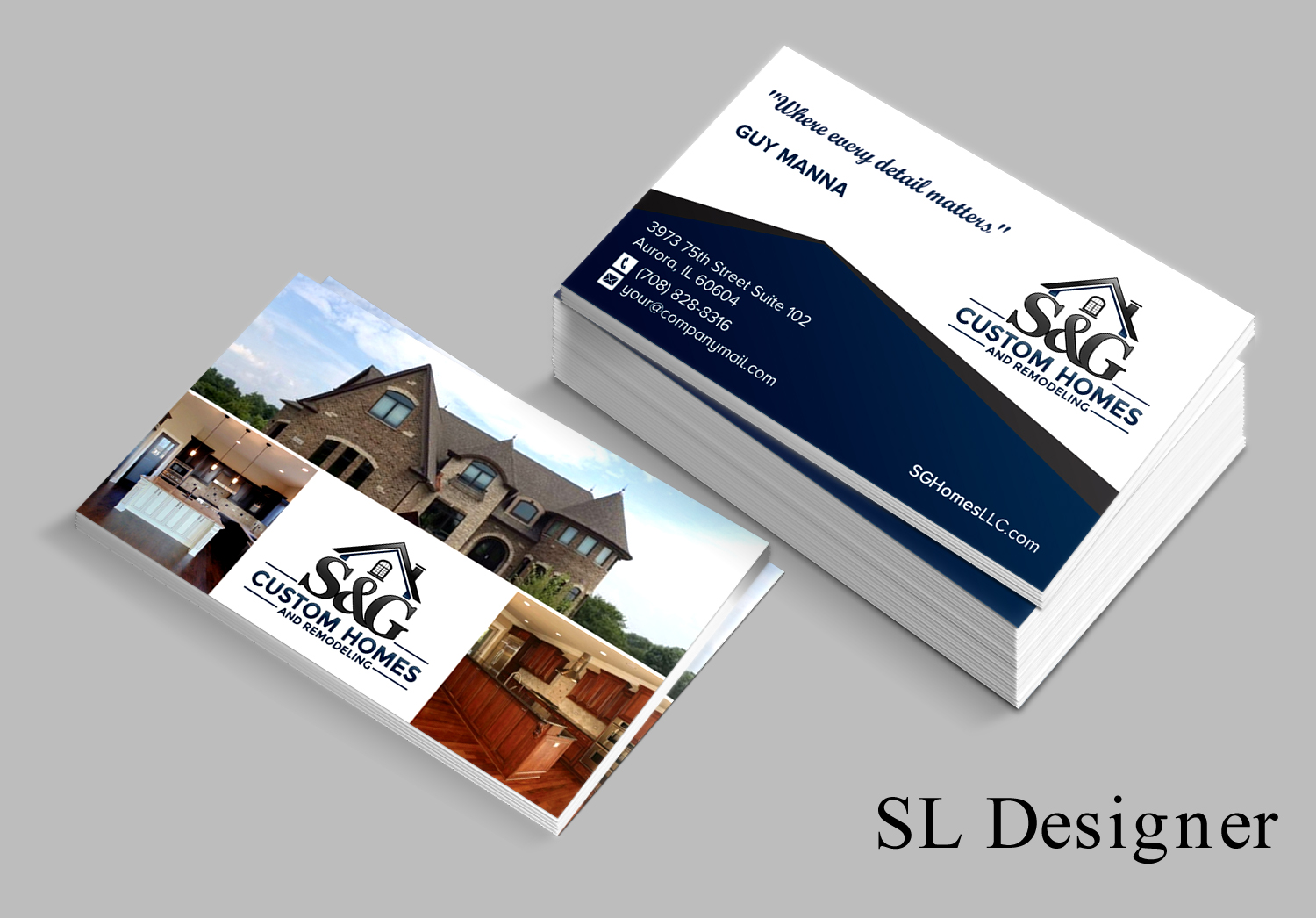 Home builder business cards gallery business card template for Home builder company