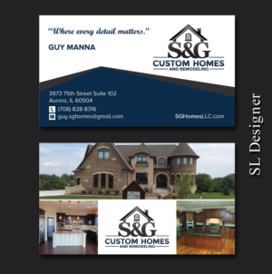 Upmarket Professional Home Builder Business Card Designs For A - Home remodeling business cards