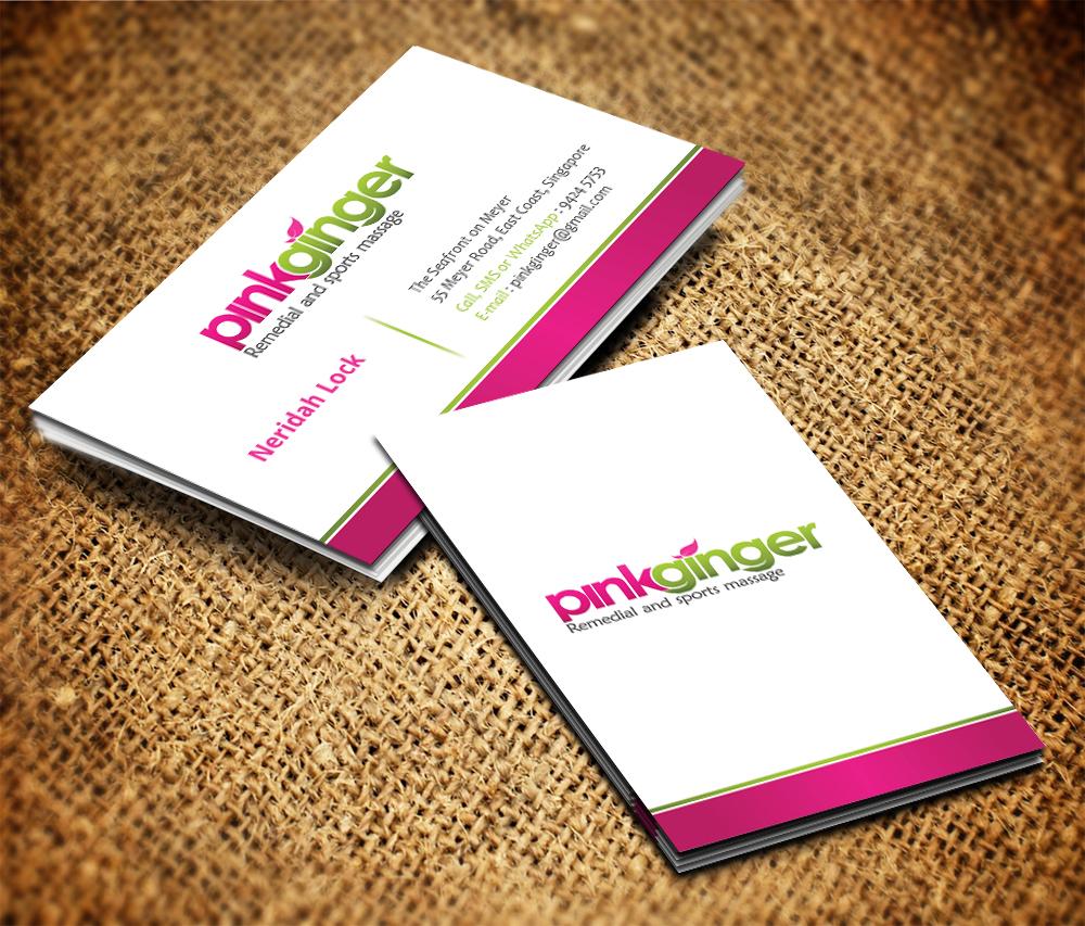 Feminine, Elegant, Massage Business Card Design for a Company by ...