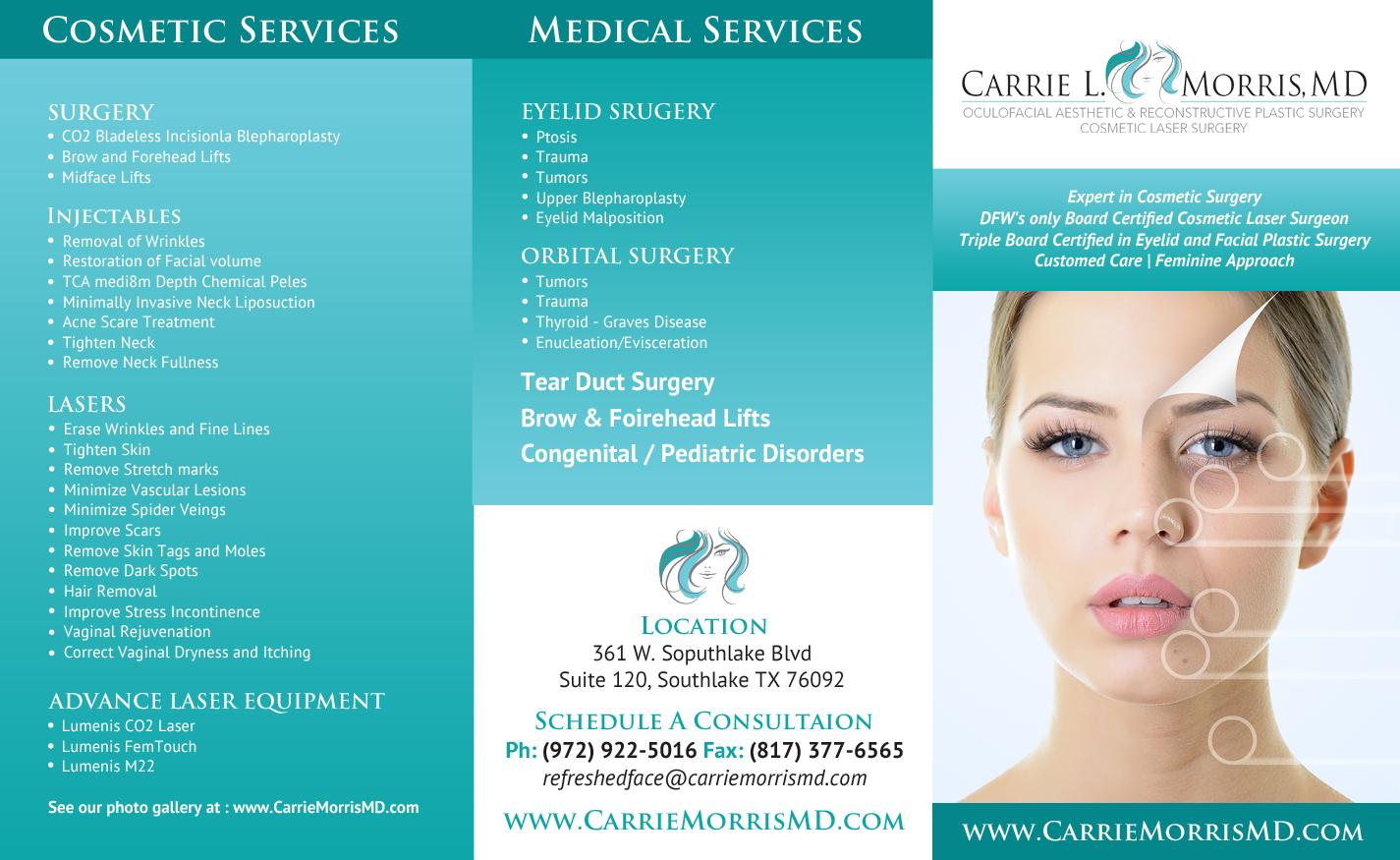 Elegant, Feminine, Plastic Surgery Flyer Design for